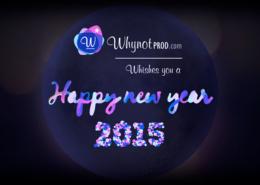 Carte de vœux whynotprod 2015